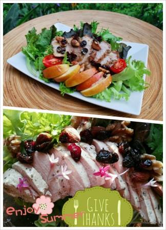 黃金松阪豬肉3入&嫩雞堅果沙拉3入混搭版